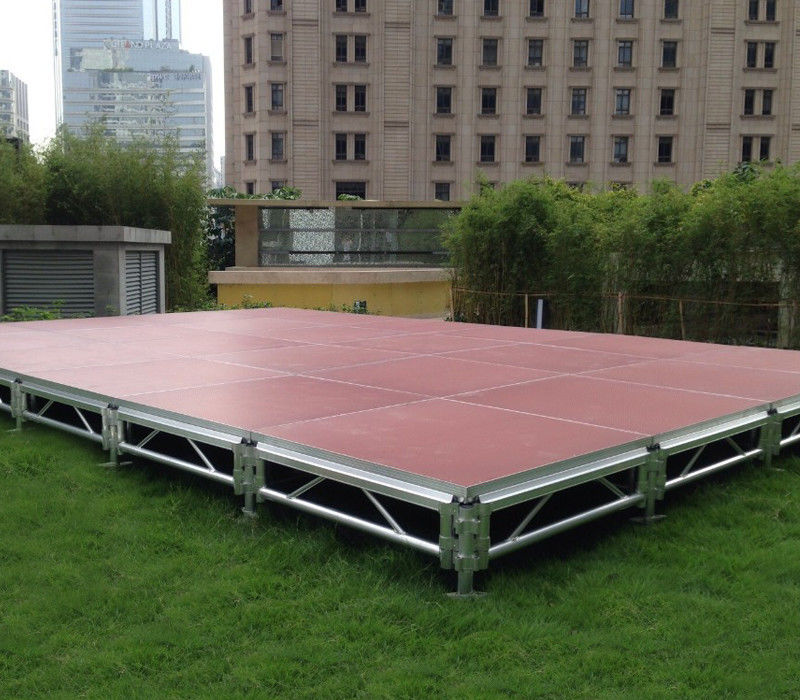 4ft *4ft 6082 Aluminum Movable Stage Platform 18mm Thinkness Anti Slip And Fireproof Plywood For event on water