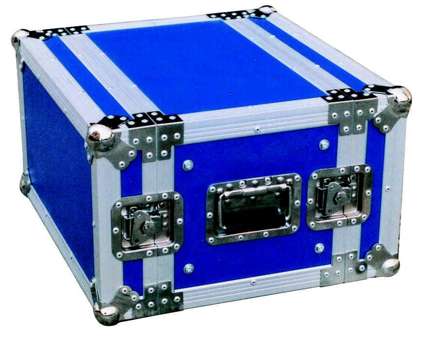 Aluminum / Plastic 2U Standard Rack Flight Case 530 x 680 x 120mm