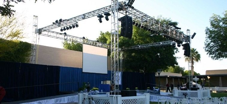 Outdoor Concert / Party / Wedding Stage DJ Truss For Speakers