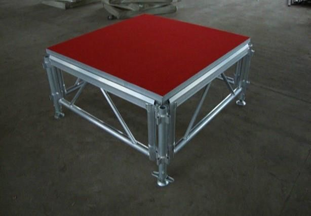 Glass / Wood Aluminum Portable Stage , Aluminum Truss System 400 kg/Sqm Bearing